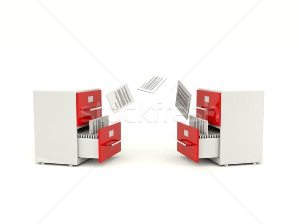 Photo stock: Archive · fichiers · internet · données · recherche · outil