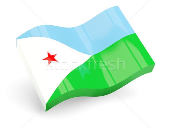 3D флаг Джибути изолированный белый путешествия Сток-фото © MikhailMishchenko