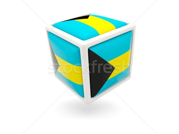 флаг Багамские острова куб икона изолированный белый Сток-фото © MikhailMishchenko
