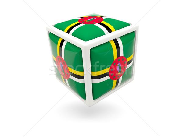 флаг Доминика куб икона изолированный белый Сток-фото © MikhailMishchenko