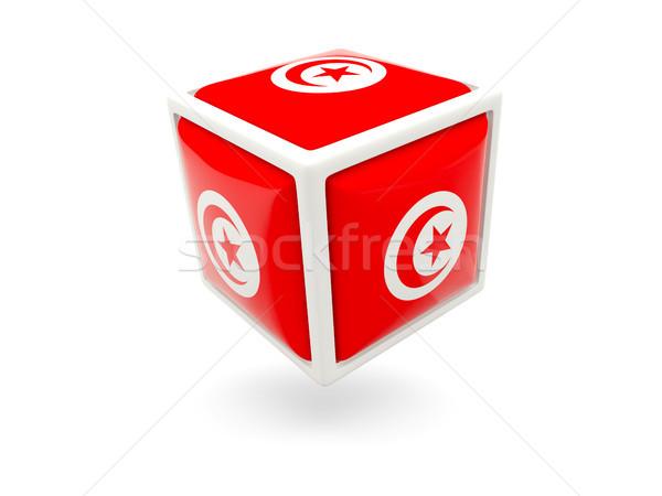 Flag of tunisia. Cube icon Stock photo © MikhailMishchenko