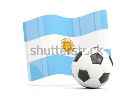 Banderą Argentyna piłka nożna zespołu kraju Zdjęcia stock © MikhailMishchenko