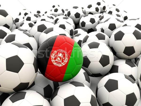 Voetbal vlag Afghanistan regelmatig zomer Stockfoto © MikhailMishchenko