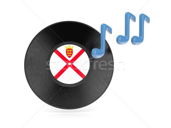 Vinyl disk with flag of jersey Stock photo © MikhailMishchenko