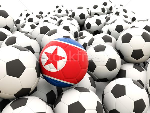 Football with flag of north korea Stock photo © MikhailMishchenko