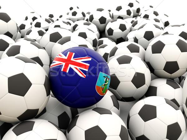 Football with flag of montserrat Stock photo © MikhailMishchenko