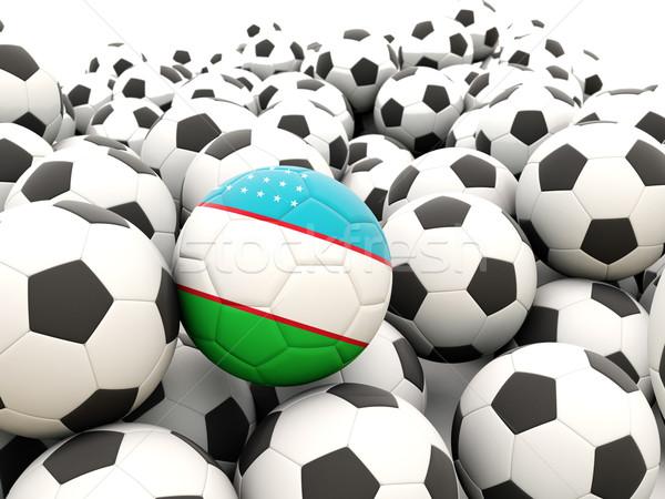 футбола флаг Узбекистан регулярный лет Сток-фото © MikhailMishchenko