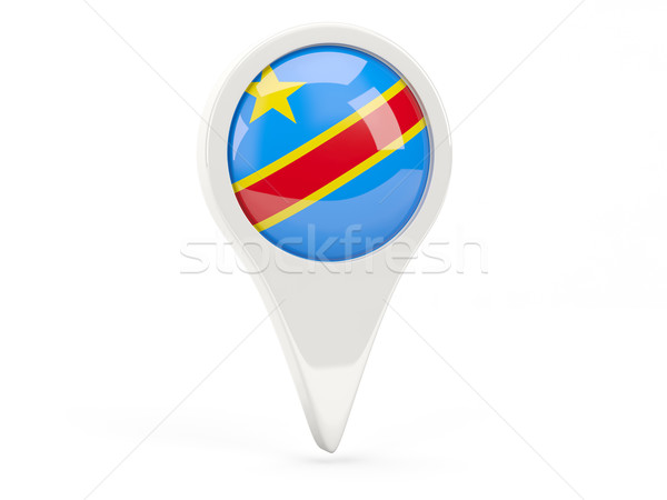 Round flag icon of democratic republic of the congo Stock photo © MikhailMishchenko