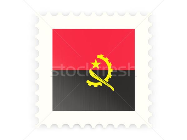 почтовая марка икона Ангола изолированный белый знак Сток-фото © MikhailMishchenko