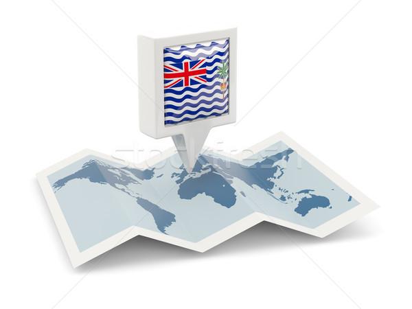 Piazza pin bandiera britannico indian Ocean Foto d'archivio © MikhailMishchenko