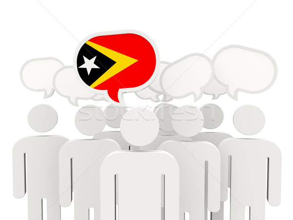 People with flag of east timor Stock photo © MikhailMishchenko