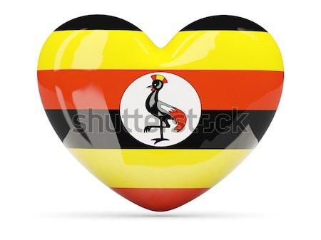 Round icon of flag of uganda Stock photo © MikhailMishchenko