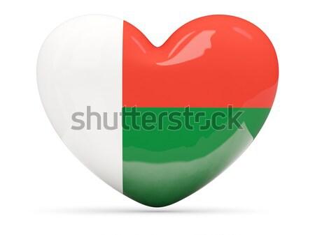 сердце икона флаг Мадагаскар изолированный Сток-фото © MikhailMishchenko