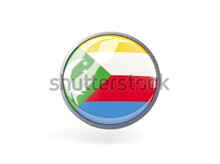 Round icon with flag of comoros Stock photo © MikhailMishchenko
