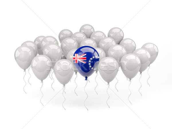 Air balloons with flag of cook islands Stock photo © MikhailMishchenko