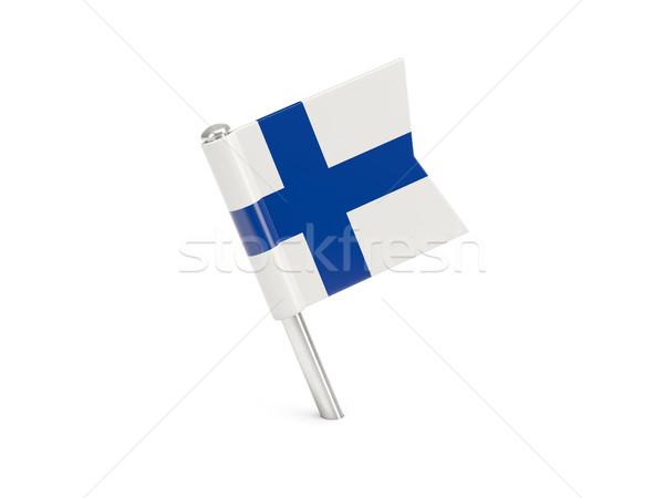 Bandeira pin Finlândia isolado branco Foto stock © MikhailMishchenko