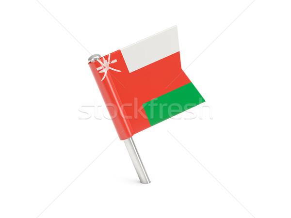флаг Pin Оман изолированный белый Сток-фото © MikhailMishchenko