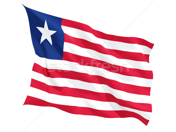 Waving flag of liberia Stock photo © MikhailMishchenko