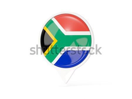 Sticker vlag South Africa geïsoleerd witte reizen Stockfoto © MikhailMishchenko