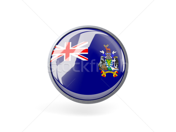 Round icon with flag of  the south sandwich islands Stock photo © MikhailMishchenko