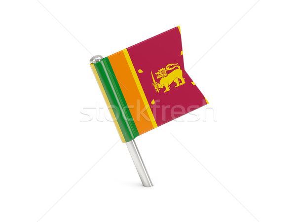 Flag pin of sri lanka Stock photo © MikhailMishchenko