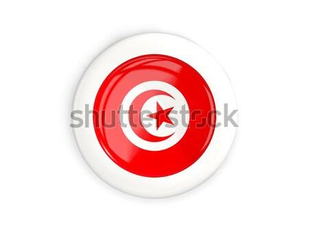 Round sticker with flag of tunisia Stock photo © MikhailMishchenko