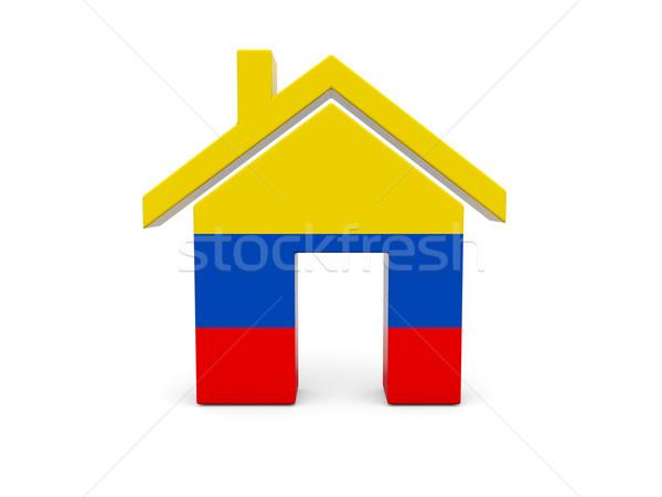 Home vlag Colombia geïsoleerd witte Zoek Stockfoto © MikhailMishchenko