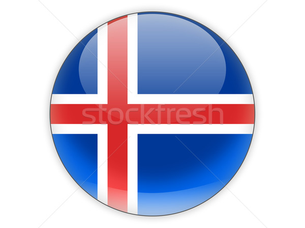 Round icon with flag of iceland Stock photo © MikhailMishchenko