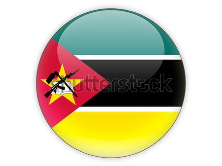 Round icon with flag of mozambique Stock photo © MikhailMishchenko