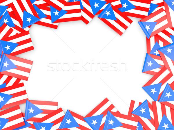 Frame vlag Puerto Rico geïsoleerd witte Stockfoto © MikhailMishchenko