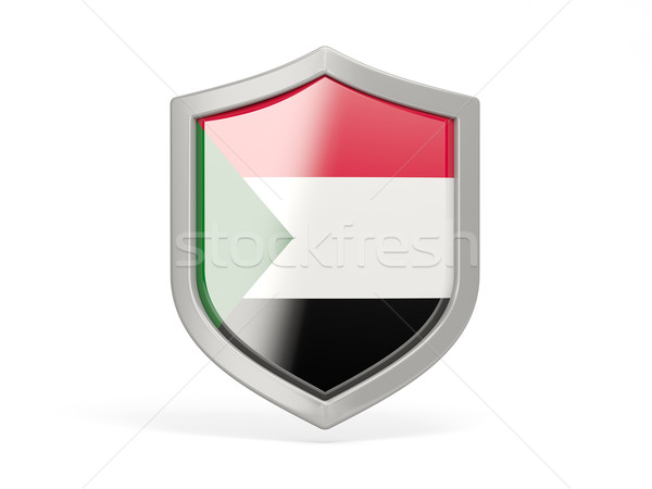 Shield icon with flag of sudan Stock photo © MikhailMishchenko