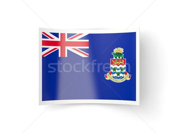Bent icon with flag of cayman islands Stock photo © MikhailMishchenko