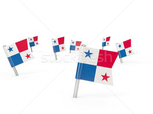 Square pins with flag of panama Stock photo © MikhailMishchenko