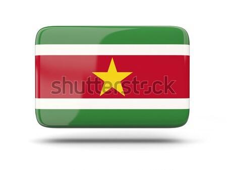 квадратный икона флаг Суринам тень знак Сток-фото © MikhailMishchenko