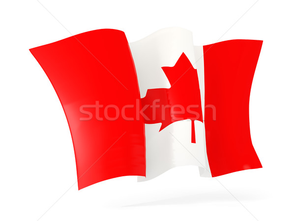 Waving flag of canada. 3D illustration Stock photo © MikhailMishchenko