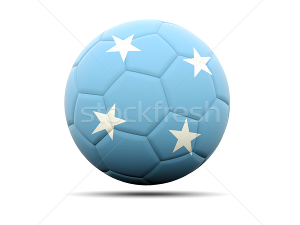 Futebol bandeira Micronésia ilustração 3d futebol esportes Foto stock © MikhailMishchenko