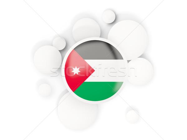 Banderą circles wzór odizolowany biały 3d ilustracji Zdjęcia stock © MikhailMishchenko