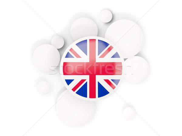 Round flag of united kingdom with circles pattern Stock photo © MikhailMishchenko