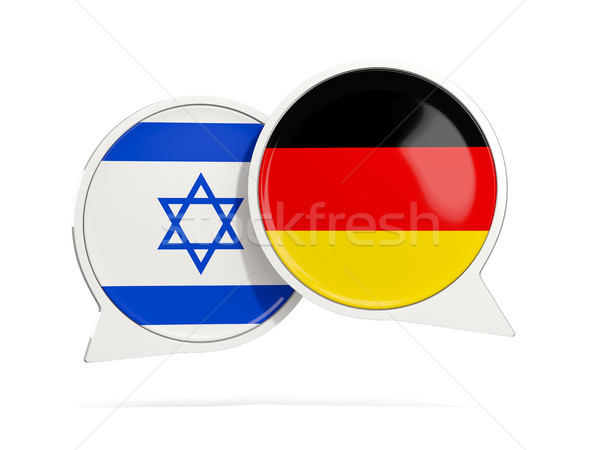 Chat bubbles of Israel and Germany isolated on white Stock photo © MikhailMishchenko