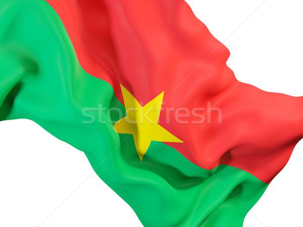 Waving flag of burkina faso Stock photo © MikhailMishchenko
