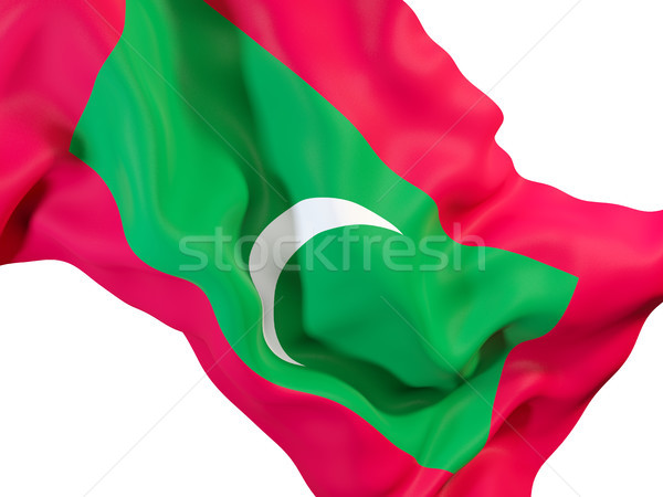 Waving flag of maldives Stock photo © MikhailMishchenko