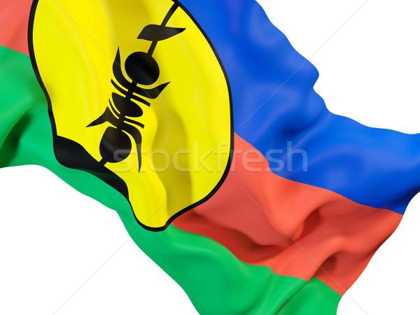 Waving flag of new caledonia Stock photo © MikhailMishchenko