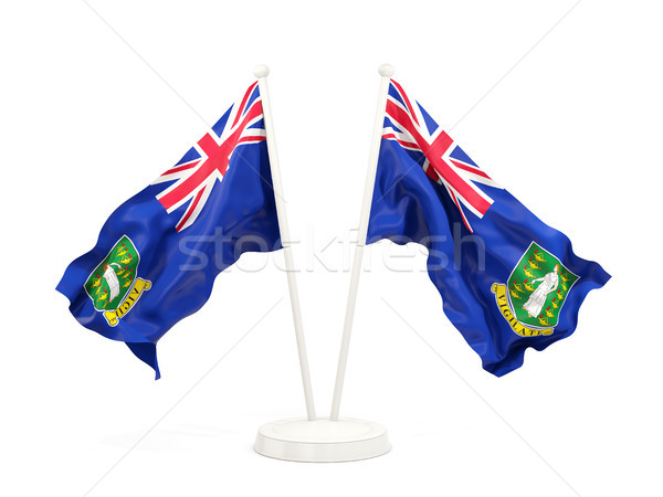 Two waving flags of virgin islands british Stock photo © MikhailMishchenko