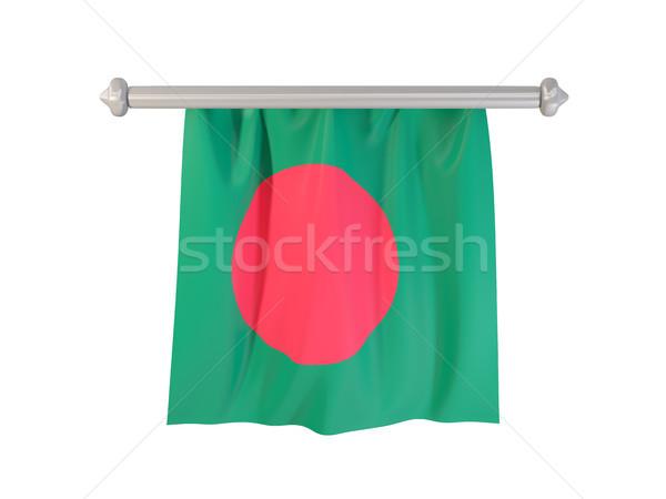 Bandeira Bangladesh isolado branco ilustração 3d etiqueta Foto stock © MikhailMishchenko