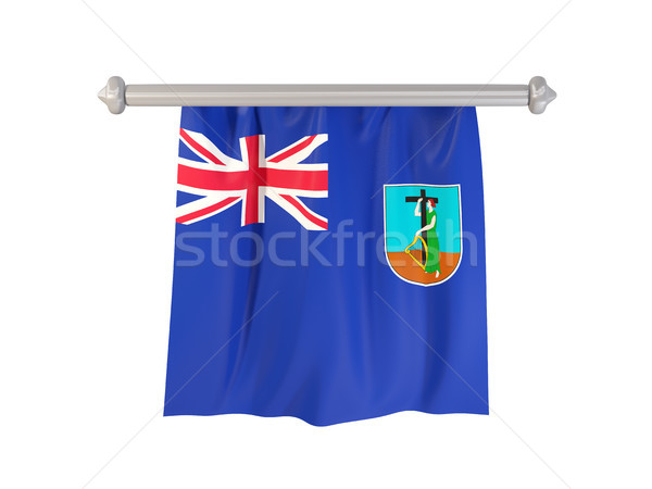 Pennant with flag of montserrat Stock photo © MikhailMishchenko