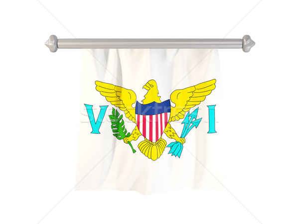 флаг Виргинские о-ва изолированный белый 3d иллюстрации Label Сток-фото © MikhailMishchenko