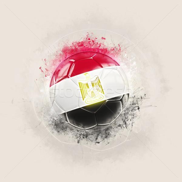 Grunge football with flag of egypt Stock photo © MikhailMishchenko