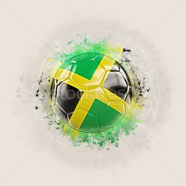 Гранж футбола флаг Ямайка 3d иллюстрации Мир Сток-фото © MikhailMishchenko