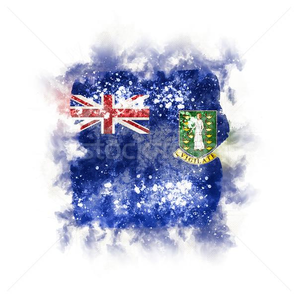 квадратный Гранж флаг Виргинские о-ва британский 3d иллюстрации Сток-фото © MikhailMishchenko