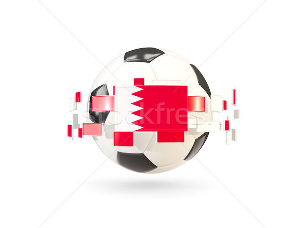 Soccer ball with line of flags. Flag of bahrain Stock photo © MikhailMishchenko
